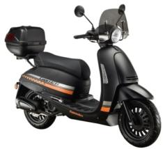 CAPRI GT 125i E4 4T matt schwarz/orange