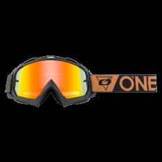 B-10 Goggle SPEEDMETAL black/brown – Radium Red