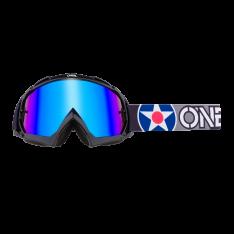 B-10 Goggle WARHAWK black/gray – radium blue